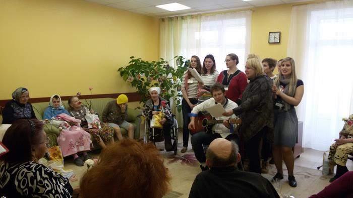 Что спеть в дома престарелых пансионат для альцгеймера казань