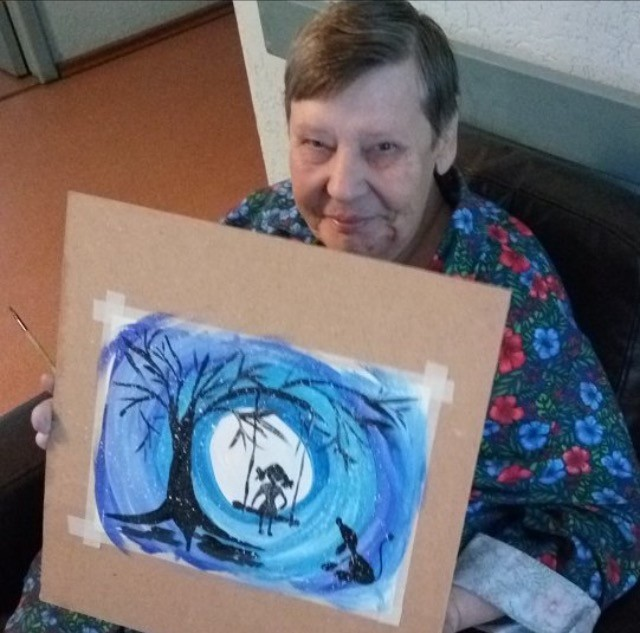 Рисунки пожилых людей дома как забрать родственника из дома престарелых